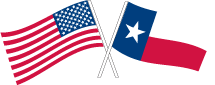 America and Texas Flags
